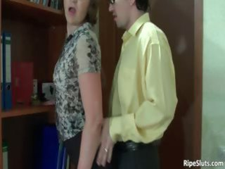 Busty mature horny slut gets pussy part2