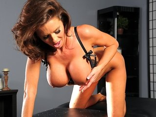 Big Tit Brunette MILF is double penetrated hard