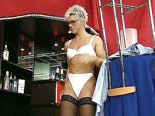 German MILF Undresses