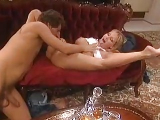 Flexible blonde milf with big tits gets her