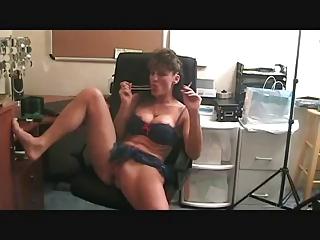 Hot Mature Smoking and Toying