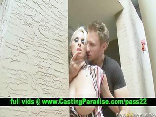 Holly Halston blonde pornstar in public