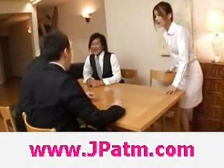 Hibik ohtsuki japanese wife fucks in the kitchen