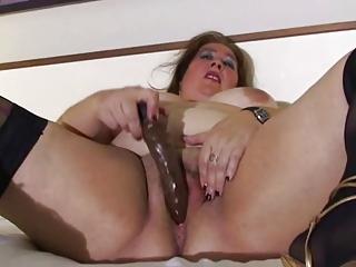 bbw mature in bed