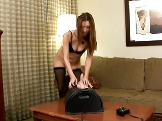 Petite milf fucking her pussy with a variety of