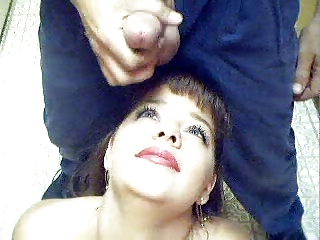 Pretty amateur busty wife Taylor loves facial