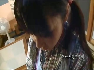 Japanese older man and youthful beauty - unc