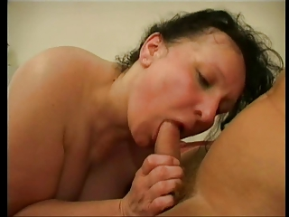 hairy granny loves cock