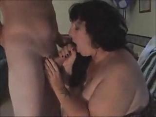 fat wife sucking off stranger