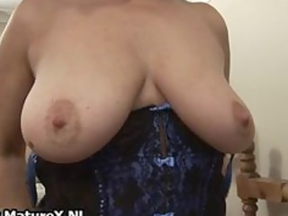 Horny old mom spreads her legs part4