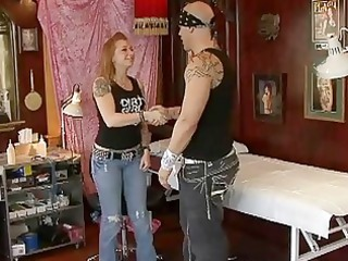 Lusty blonde wife gets banged by nasty tattooed