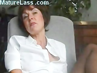 Sexy British Mature talks dirty and spreads legs