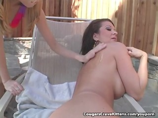 Curious Teen Gets Her First Taste Of Milf Pussy