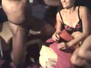 Swinger wife receive hard penetration by black