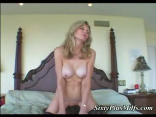 Black dong in white granny pussy