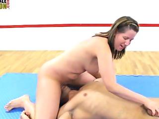 Big Butt mistress faccesitting mixed wrestling