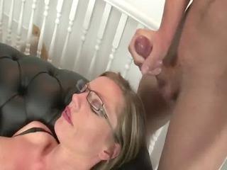 Mature brit slut threesome handjob facial