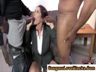 Milf interracial threesome