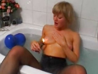 Blonde amateur wife toying and masturbating