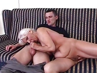 Piss granny in satin  piss and fuck
