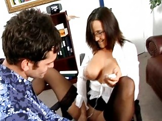 Hardcore Office Fun with Milfs in Stockings