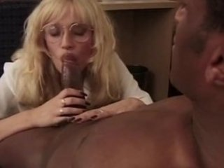 Blonde MILF audition for him room... and his BBC