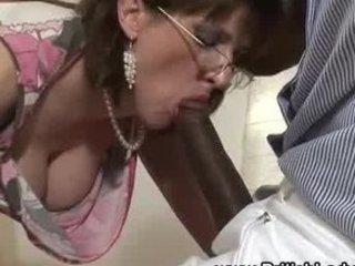Mature brit femdom interracial blowjob