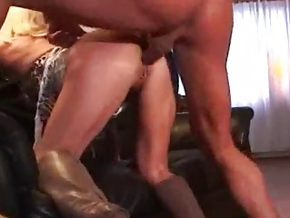 Milf pierced blond in boots getting fucked