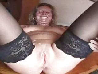 Fat Mature Slut in Stockings is a Creampie Ho