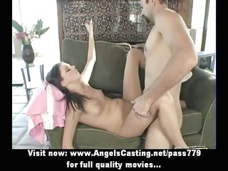 Naked brunette with piercing in pussy fucked hard