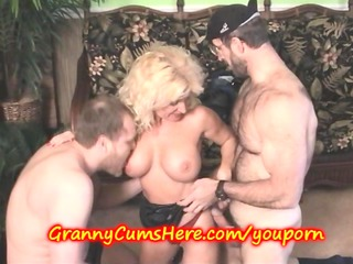 Filling Grannys Holes with a CREAM PIE
