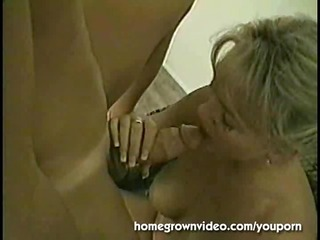 Horny Blonde MILF Takes Cock And Creampie