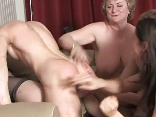 Mature ladies having fun and awsome group fucking