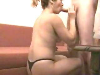 Wife in panties sensual bj movie