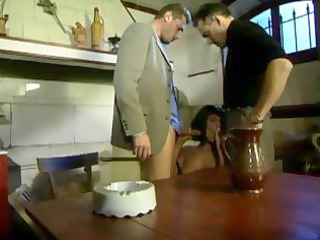 French mom fucked in the kitchen