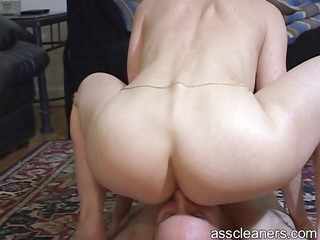 Naked oldie mistress is pleasured as she gets her