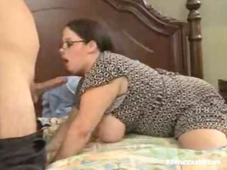 BBW Milf gets dicked by a young stud