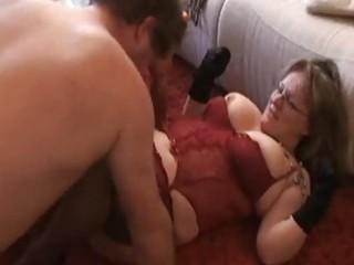 Chubby and busty amateur wife sucks and fucks