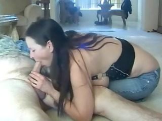 nooner oral pleasure cum on face of my doxy wife