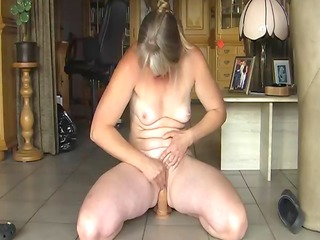 Amateur Mature Blond Masterbation and Orgasm!