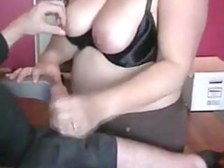 Chubby Wife Giving Amazing Handjob To Husband
