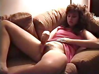 Vintage MILF Masturbates Hairy Pussy With Carrot