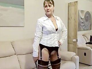 sexy wife fucked in boots &amp stockings