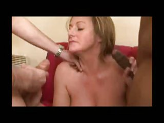 Blonde milf  getting nailed by a couple of big