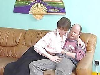 Mature German spreads her legs