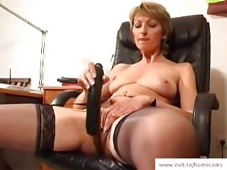 Mature Stella in her homeMade masturbation movie