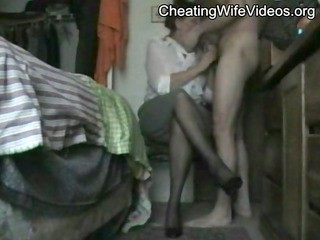 Mature Cheating Wife fucked by her younger Lover,