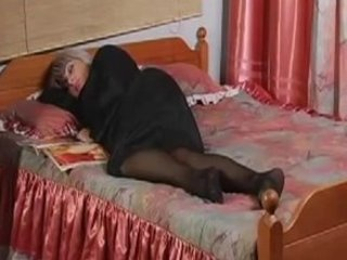 Russian mature housewife and boy