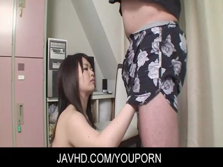 Asian MILF Aiko Sawawatari toying and banged hard