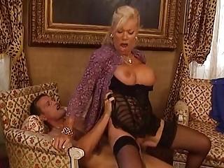 Mature blonde fucks her man